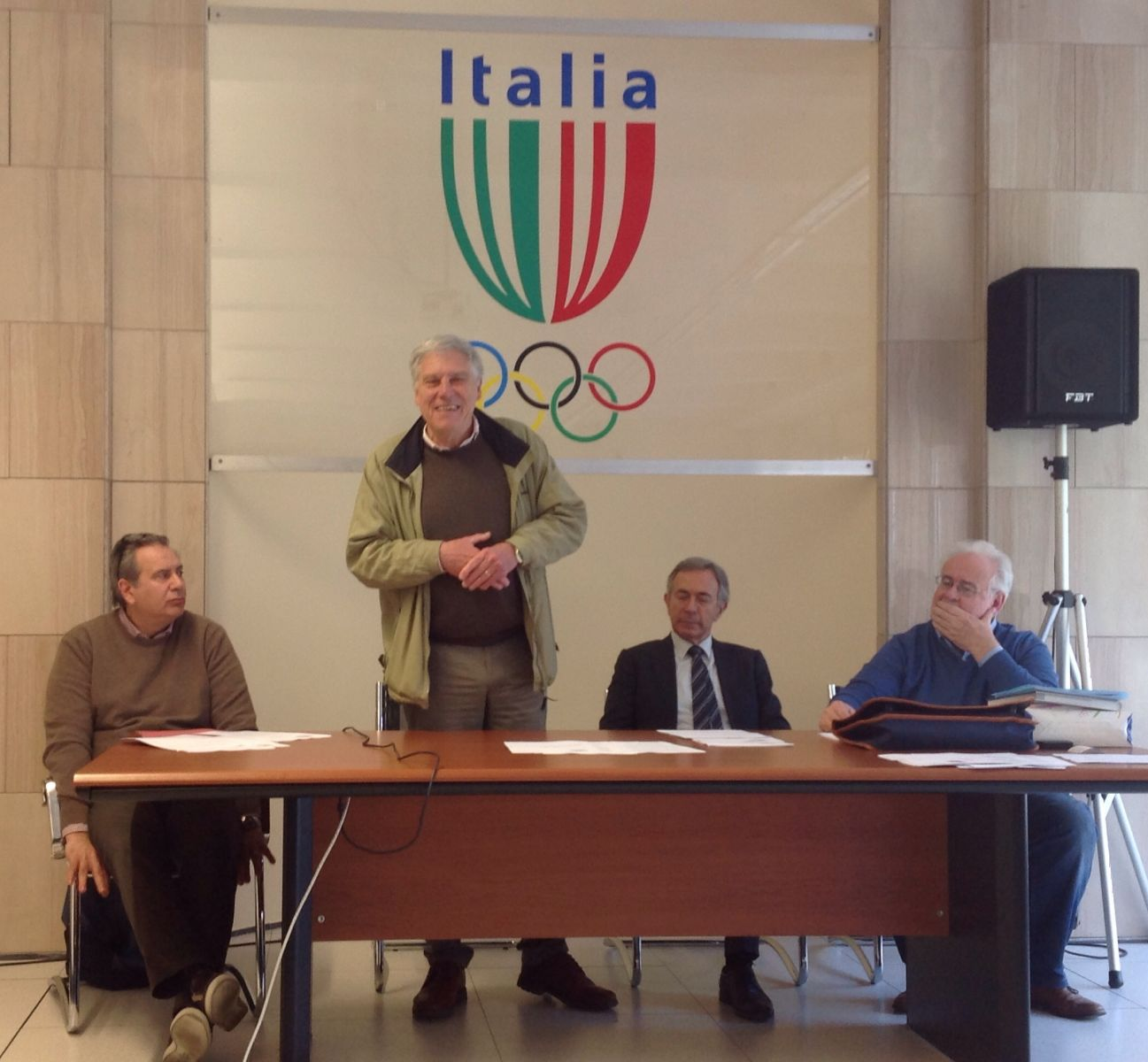 Da sinistra: Tiziano Strinati, Mauro Nasciuti, Vittorio Ottonello e Ottavio Castellini